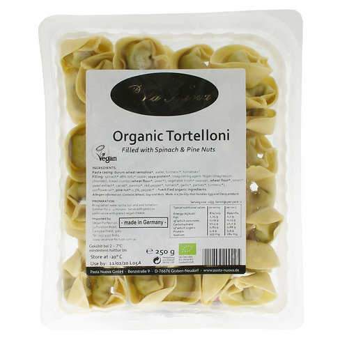 Nuova Organic Tortelloni, Spinach and Pine Nuts