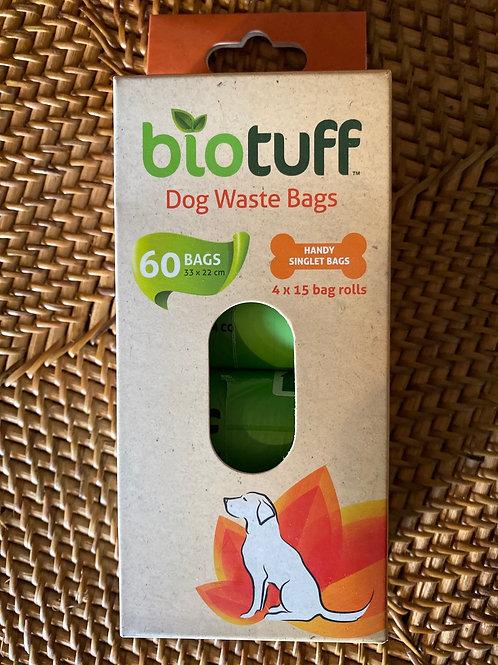 BIOTUFF - 4x15 Dog Waste Bags