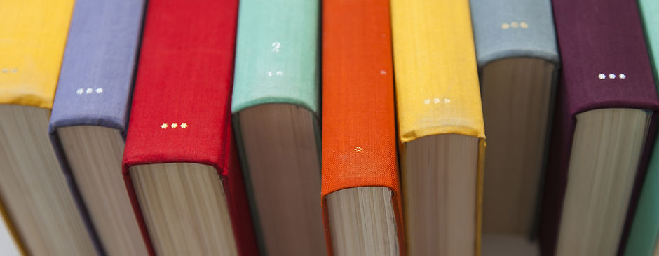 Colourful Book Spines