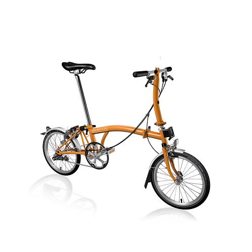 Vélo Pliable S3L,Orange