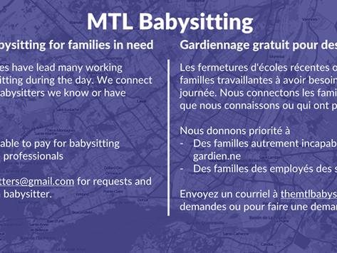 MTL Babysitting Helping the Community Amidst COVID-19