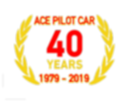 Ace Pilot Car 40th Year logo 2019BK (1)