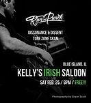 Ska/Punk Show, Run and Punch, Dissonance & Dissent, Tone Zone Skam, at Kelly's Irish Saloon in Blue Island, IL, 2/25/17