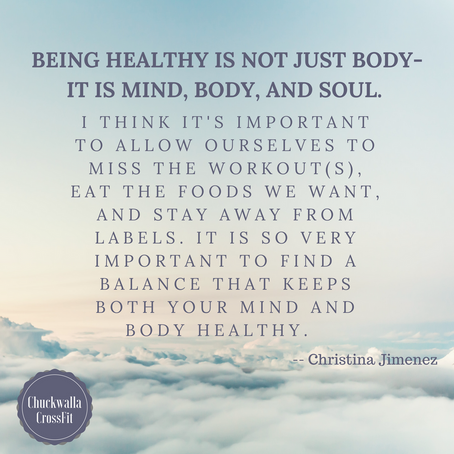 Being Healthy Is Not Just Body