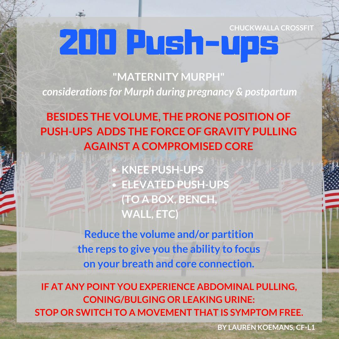 Maternity Murph - push-ups