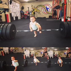 Future weightlifter #chuckwallacrossfit #chuckwallacrossfitkids