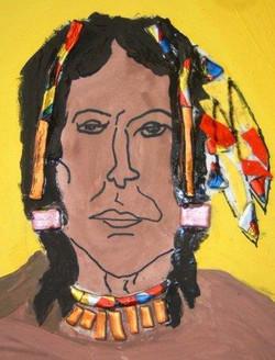 American Indian in plastic