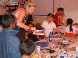 Artist-teacher in classroom