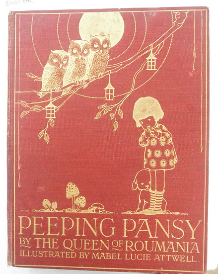 PEEPING PANSY ILLUSTRATED BY LUCIE MABEL ATWELL