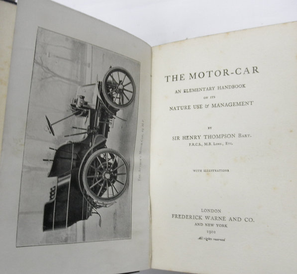 Very Early automobile book