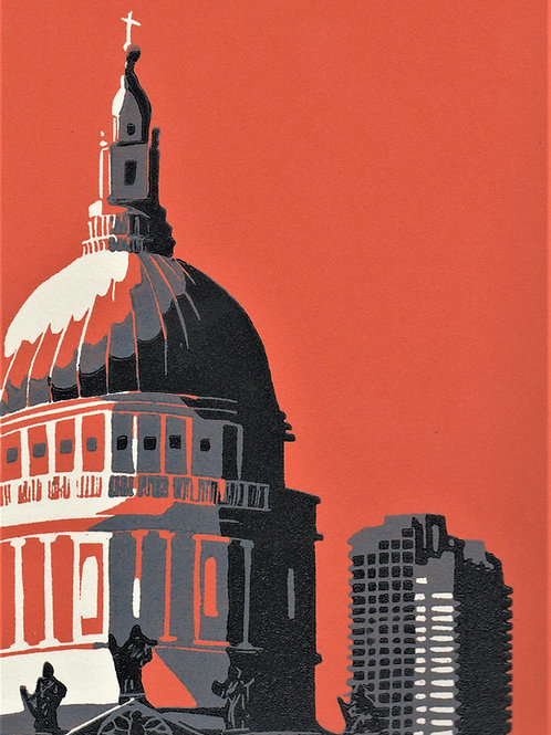 Jennie Ing - St Paul's Cathedral with Barbican (orange)