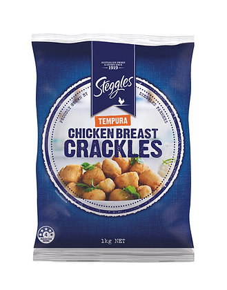 Steggles Chicken Breast Crackles 1kg (Approx 50 Units)
