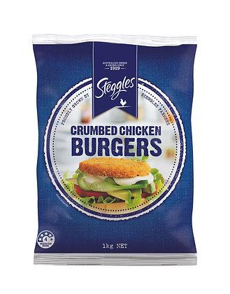 Steggles Crumbed Chicken Burger 1kg