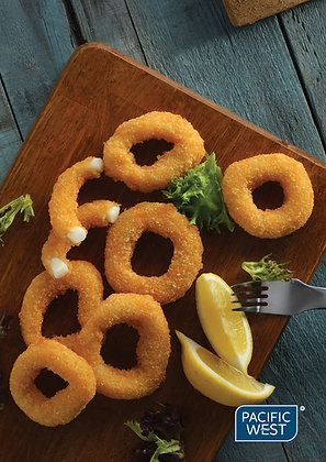 Pacific West Crumbed Squid Rings (Natural) 1kg