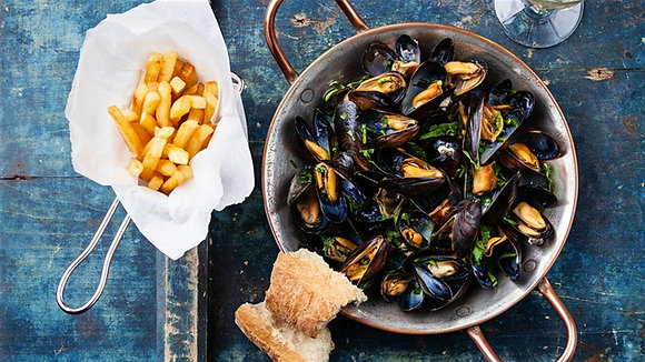 Pacific West Mussels 1/2 Shell Medium 1kg
