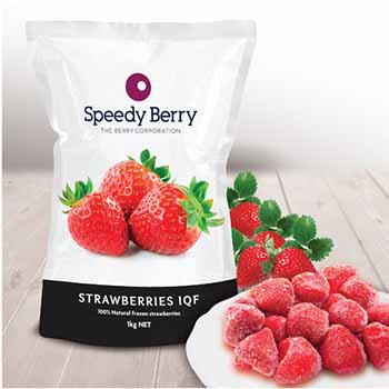 Speediberry Strawberries Frozen IQF 1KG (10)