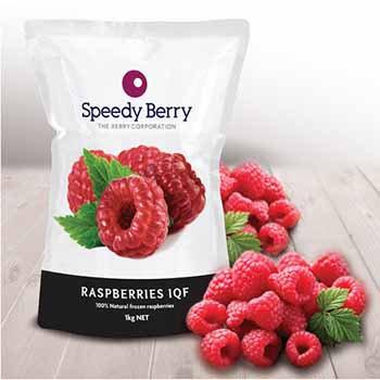 Speediberry Rasberries Frozen 1kg