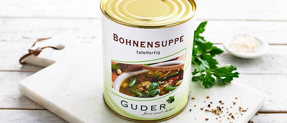 Bohnensuppe tafelfertig