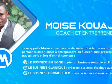 Portrait d'un entrepreneur : Moïse Kouadjeu, Mosko Académie