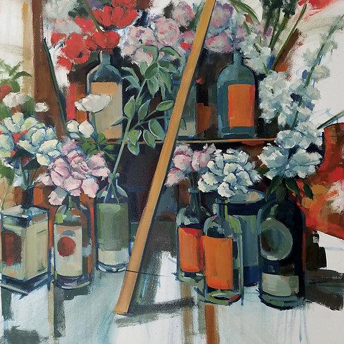 """Bottle Garden  (30x30"""")"""