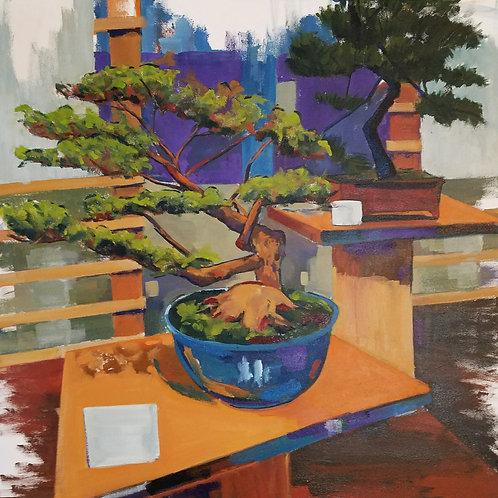 """Bonsai Garden (30x30"""")"""