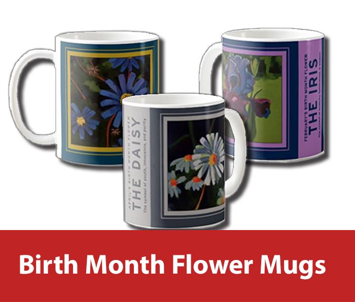 Birth Month Flower Mugs