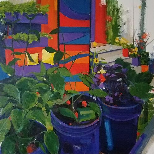 """City Garden (30x30"""")"""