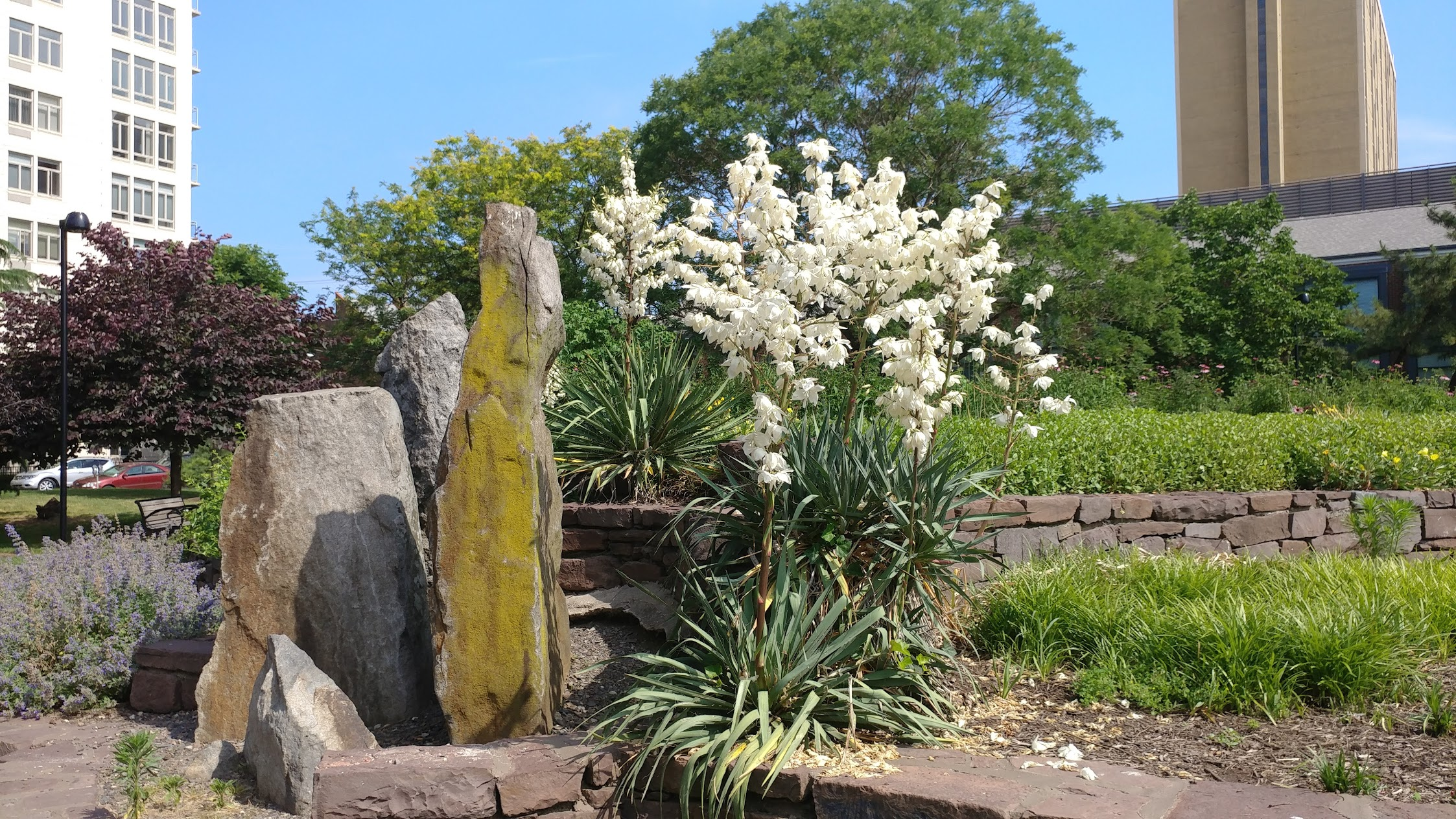 Matthias Baldwin Park Rock Sculpture
