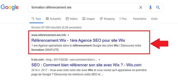 1er_sur_Formation_en_référencement_wix