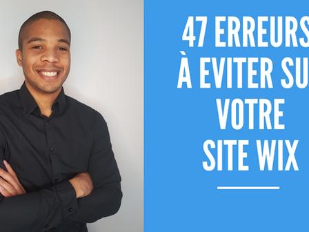 Créer un site Wix : les 47 erreurs à éviter !