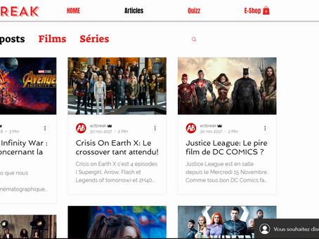 Act-break.com le site Wix dédié aux films et aux séries TV !
