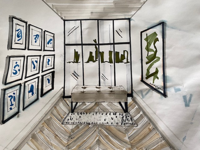 Nancy Lane Interiors {hand sketches}