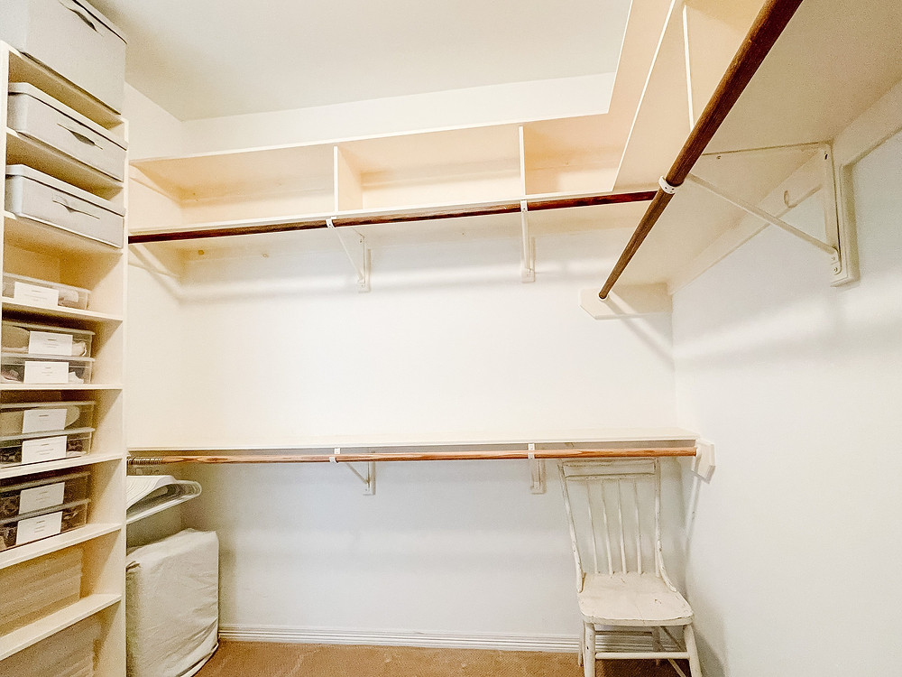 """Before Photo from Organization Project """"Clean my own closet"""" by Houston interior design firm Nancy Lane Interiors."""