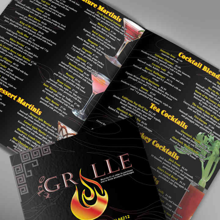 Drink Menu Design & Layout
