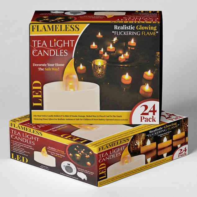 24 Piece LED Flameless Tea Lights