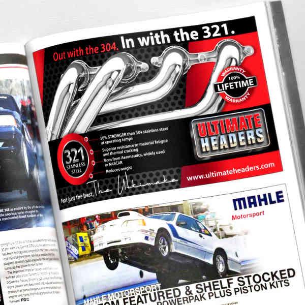 Fastest Street Car Half Page Ad Design