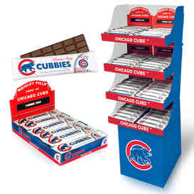 Floor Display & 12PC Tray - © Chicago Cubs (Fannie May Candy)