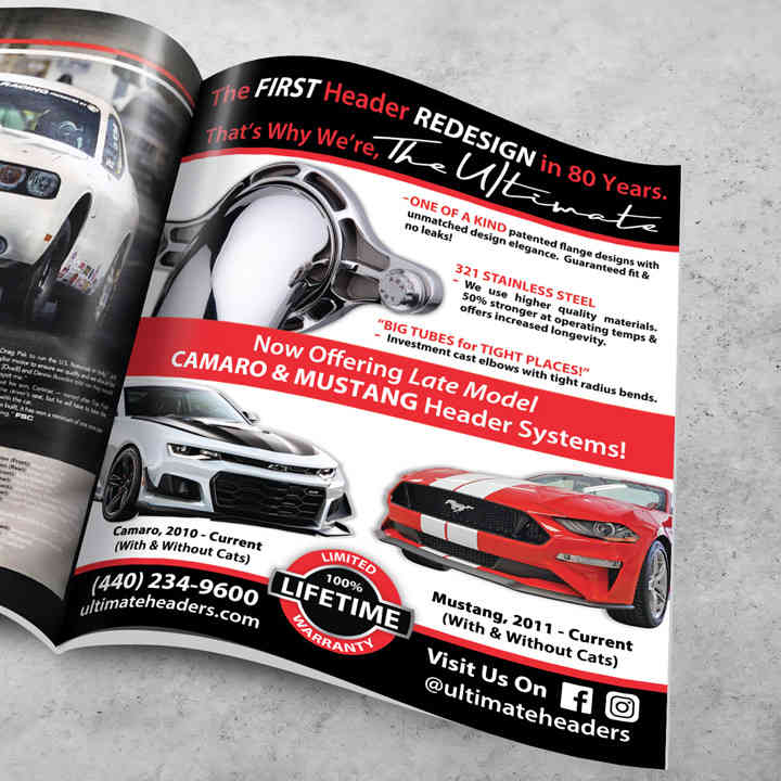 Fastest Street Car Full Page Ad Design