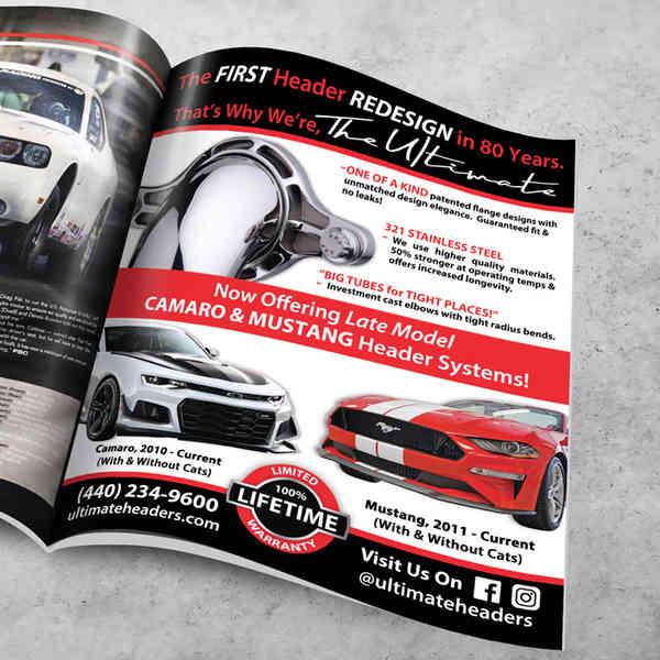 Fastest Street Car Full Page Ad Design