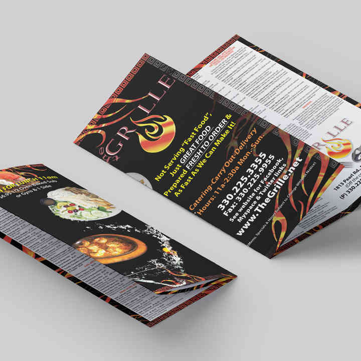 Take Out Menu Design & Layout