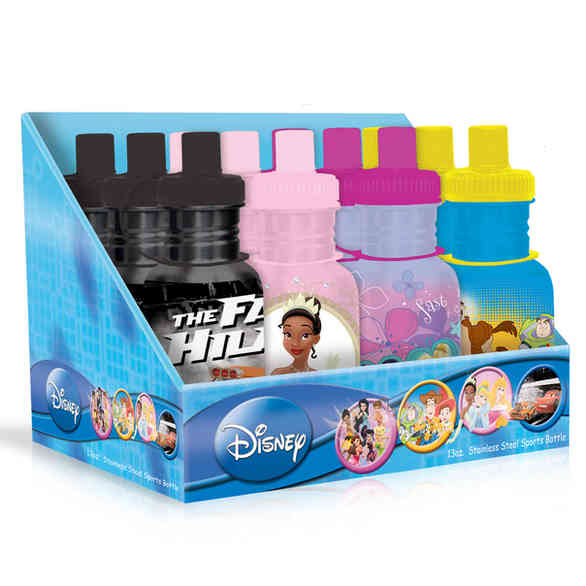 12PC Hydration Bottle PDQ-© Disney