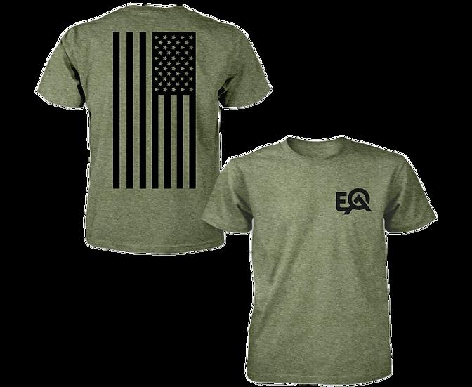 EOA Army Green Flag Logo T-Shirt