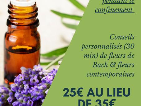 Offre Fleurs de Bach & confinement