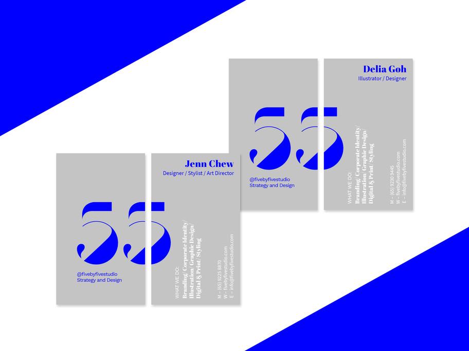 Five by Five Studio Name Card Design