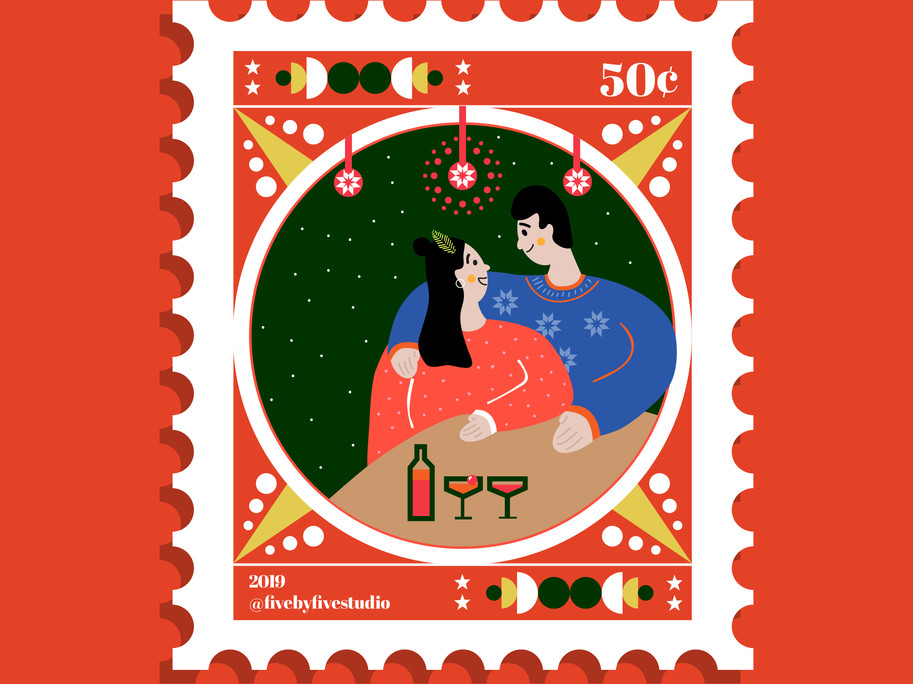 One Week Collaboration - Christmas 2019 Stamps