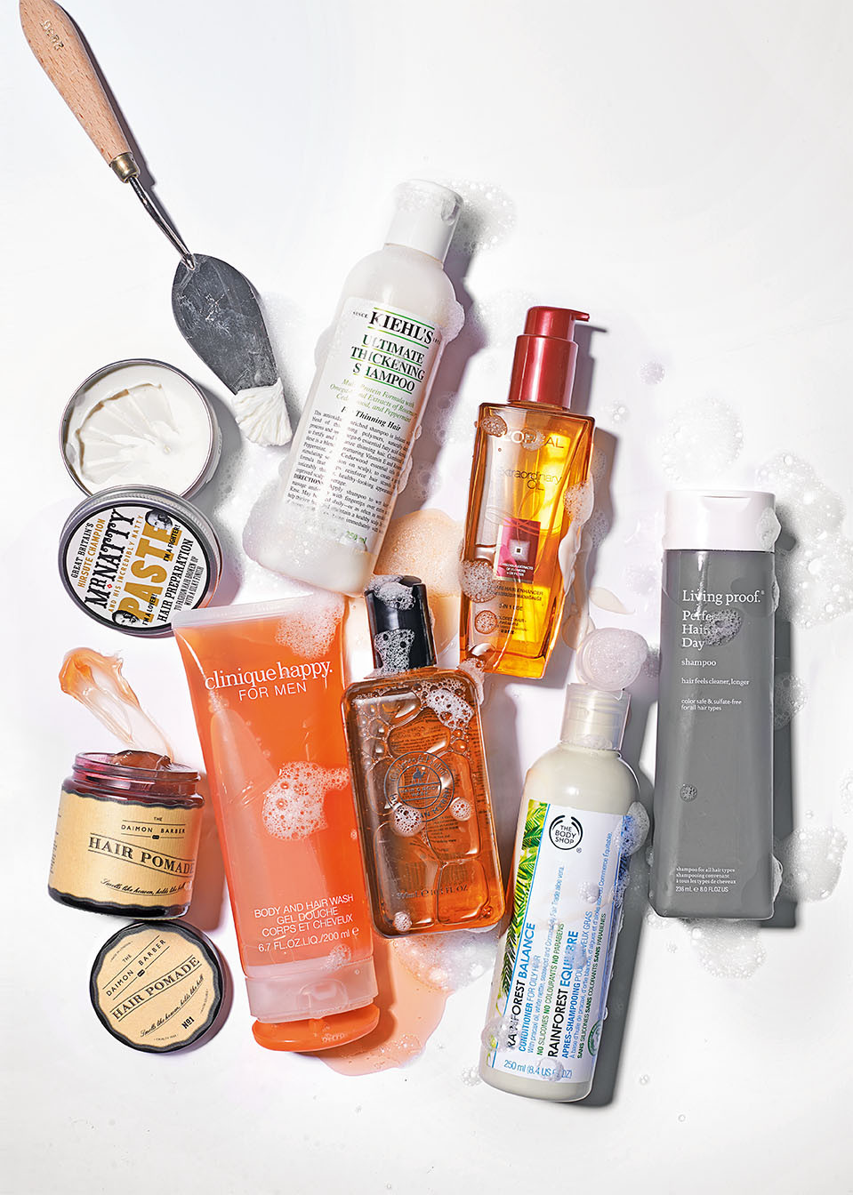 Men's grooming – Five steps of styling products