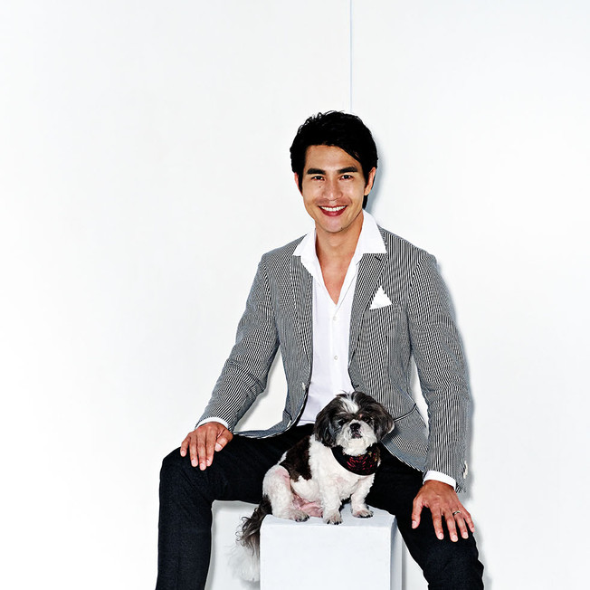 09 - Pierre Png, actor — with his pups, Oreo and Cookie