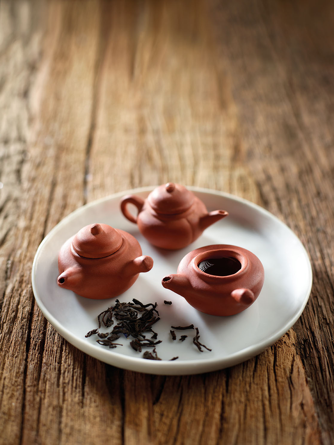 Mini Teapot and Tea Leaves