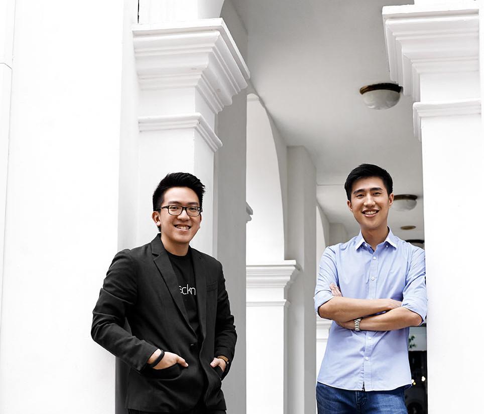 Johnbosco Ng and Jonathan Lee, Founder of Packnada