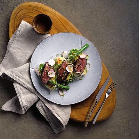 Pastrami Spice-Rubbed Tri-Tip Salad